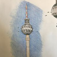 Charlie Holt's Drawing of NATO Castle